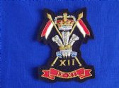 9th / 12th ( PRINCE OF WALES'S ) ROYAL LANCERS BLAZER BADGE